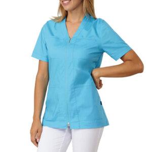 Casacca Medicale Donna Trudy Con Zip Mezza Manica
