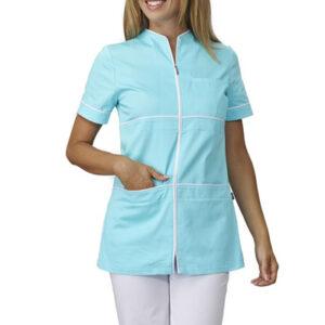 Casacca Medicale Donna Shyla Con Zip 100% Cotone Gabardine
