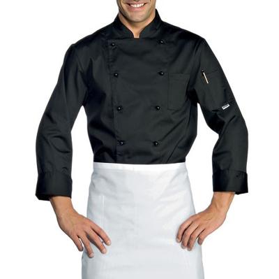 Giacca Cuoco Extralight Nero 65% Polyester  35% Cotton