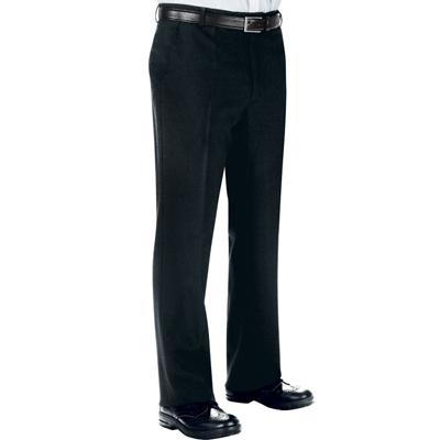 Pantalone Uomo S/pinces Nero 100 % Polyester