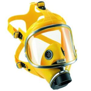 Maschera Pieno Facciale Tr82 Silicone Giallo Raccordo A Vite