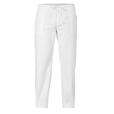 Pantalone Alan Bianco Con Laccio Ed Elastico 100%cotone