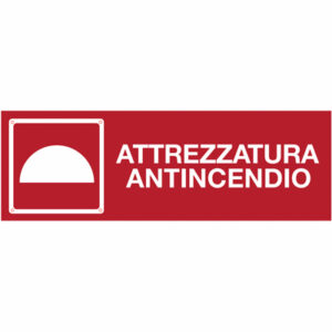 Cartello Attrezzature Antincendio  370×170
