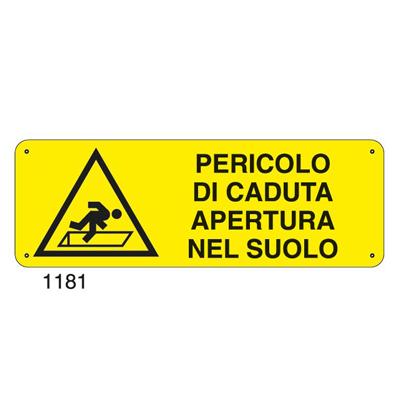 Cartello Pericolo Caduta Apertura Nel Suolo 350×125