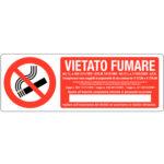 Cartello Vietato Fumare Con Normativa