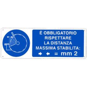 Cartello È Obbligatorio Rispettare La Distanza Massima Stabilita 350×125