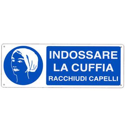 Cartello Alluminio Obbligo Indossare La Cuffia 350×125