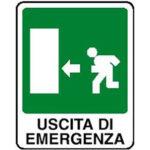 Cartello Uscita Di Emergenza Sinistra 120×145