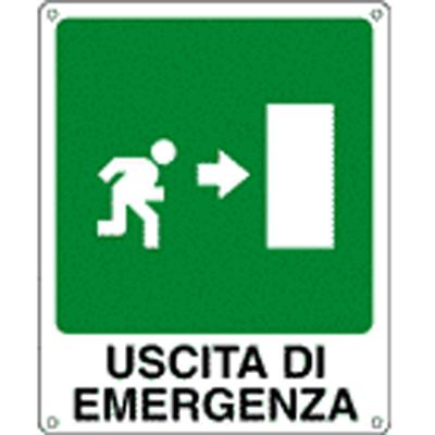 Cartello Uscita Di Emergenza Destra 120×145
