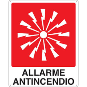 Cartello Allarme Antincendio 250×310