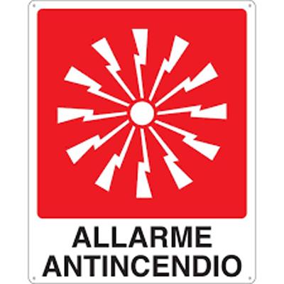 Cartello Allarme Antincendio 250×310