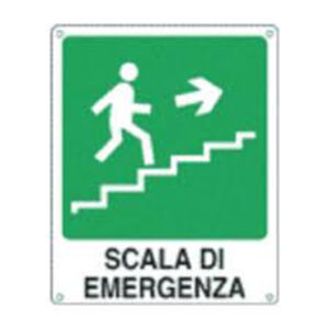 Cartello Scala Di Emergenza Dx 250×310