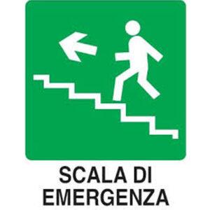 Cartello Scala Di Emergenza Sx 250×310
