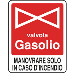 Cartello Valvola Gasolio 250×310