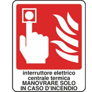 Cartello Interruttore Elettrico Centrale Termica 250×310