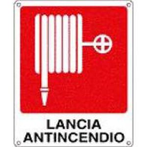 Cartello Lancia Antincendio 250×310