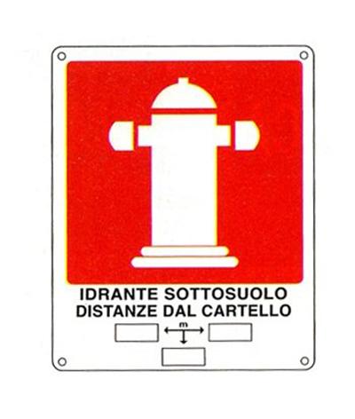 Cartello Idrante Sottosuolo Distanza 250×310