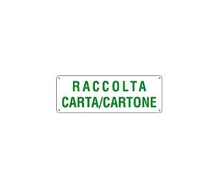 Cartello Raccolta Carta/cartone 350×125