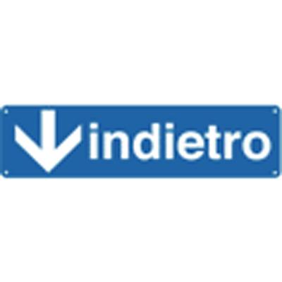 Cartello Freccia Indietro Verso Il Basso 350×125