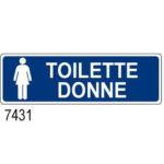 Cartello Toilette Donne 350×125