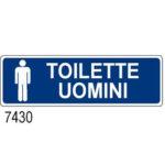 Cartello Toilette Uomini 350×125