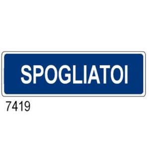 Cartello Aziendale Spogliatoi 350×125