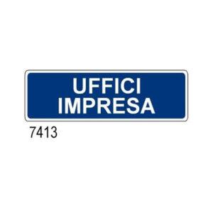 Cartello Uffici Impresa 350×125
