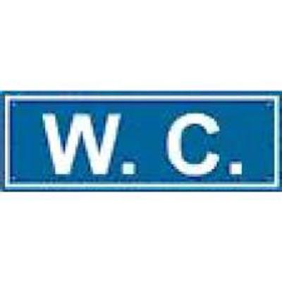 Cartello W.c. 350×125