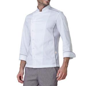 Giacca Cuoco Adrian Bianco Profilo Tortora