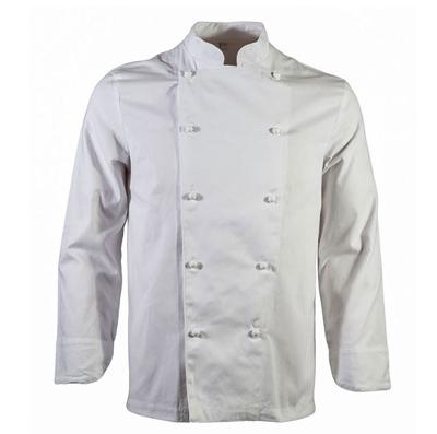 Giacca Cuoco Bianco Con Bottoni