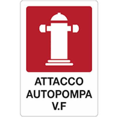 Cartello Alluminio Piano Attacco Autopompa 30×20