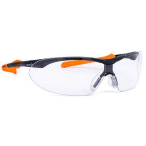 Occhiale Windor Xl Nero/arancio Lente Panoramica Pc Af Uv