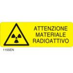 Cartello Pericolo Materiale Radioattivo 350×125