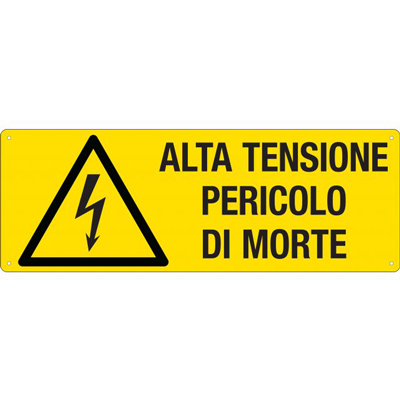 Cartello Pericolo Alta Tensione Pericolo Di Morte 350×125