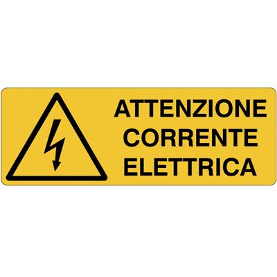 Cartello Pericolo Attenzione Corrente Elettrica 350×125