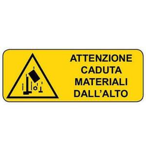 Cartello Pericolo Caduta Oggetti 350×125
