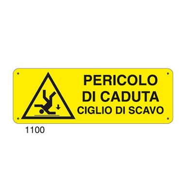 Cartello Pericolo Di Caduta Ciglio Scavo 350×125