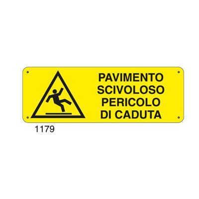 Cartello Pericolo Pavimento Scivoloso 350×125