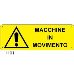 Cartello Pericolo Macchine In Movimento 350×125