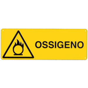 Cartello Pericolo Ossigeno 350×125