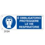 Cartello Obbligo Protezione Vie Respiratorie 350×125