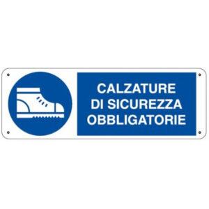 Cartello Obbligo Calzature Di Sicurezza 350×125