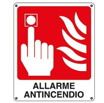 Cartello Sicurezza Allarme Antincendio 120×145
