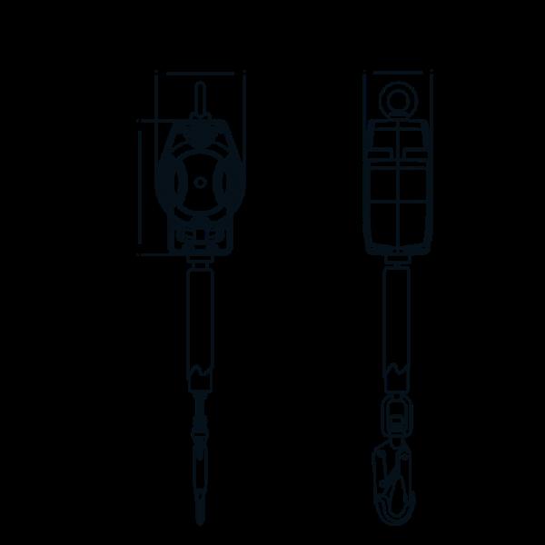 Dispositivo Anticaduta Retrattile Kratos Safety FA2050403 misure