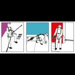 dispistivo anticaduta retrattile kratos FA2040210_utilizzo